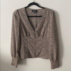 Lulu's Cheetah Button-Up Top